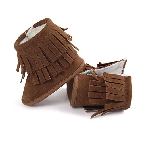 Tefamore Zapatos Bebe Botas de Borla de Caliente para Primeros caminantes Caqui
