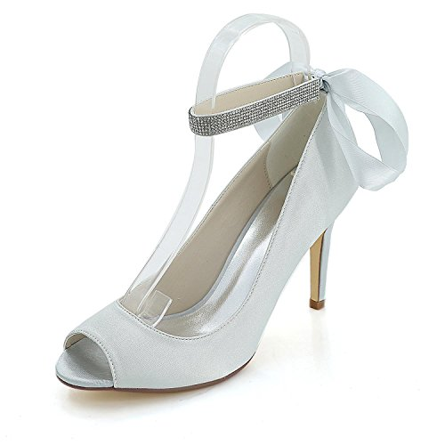 Party 12k L Alto Sandalias Tacón Night Zapatos amp; Y5623 Gray Mujer De Wedding yc Talón TwqfOTz