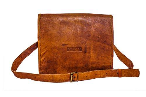 Valentines Day Gifts 13 Inch Genuine Leather Messenger Handmade Bag Laptop Bag Satchel Bag School Bag 13 X 10