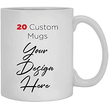Amazon.com: 20 Custom Mugs - Bulk Mugs - Wholesale Cups ...