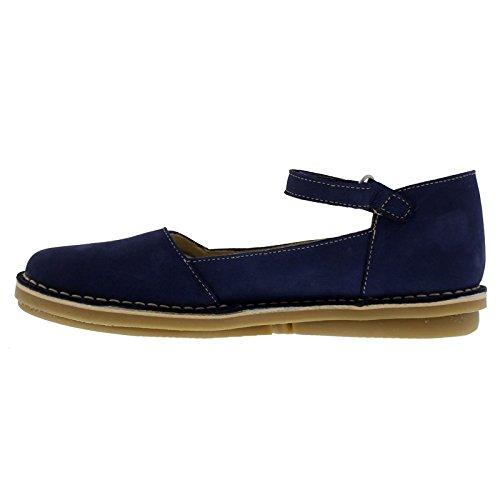 Womens Oxygen Lisbon Nubuck Shoes Navy