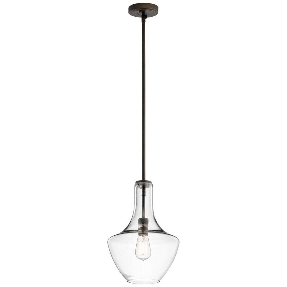 Kichler 42141OZCLR Everly 10.5'' Pendant in Olde Bronze by Kichler