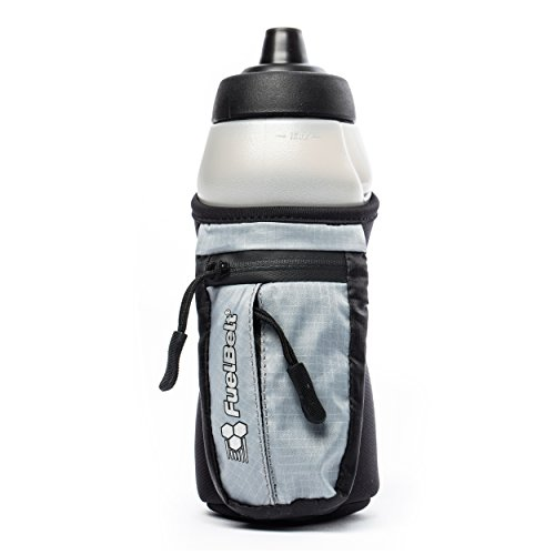 FuelBelt Enduro Fuel Hand Held Running Water Bottle with Storage Pouch, 16 oz