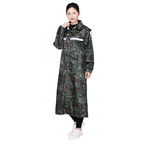 Guyuan Femmes Adulte Impermable Green Camouflage Hommes XXXL Et Moto Longue Air Coupe Taille Plein Impermable Unique Longue en Uniforme Poncho Color Manteau Vent C4rwTqC