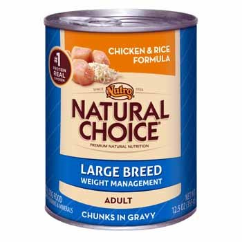 Nutro Natural Choice Chicken and Rice Chunks Large Breed Weight Management Canned