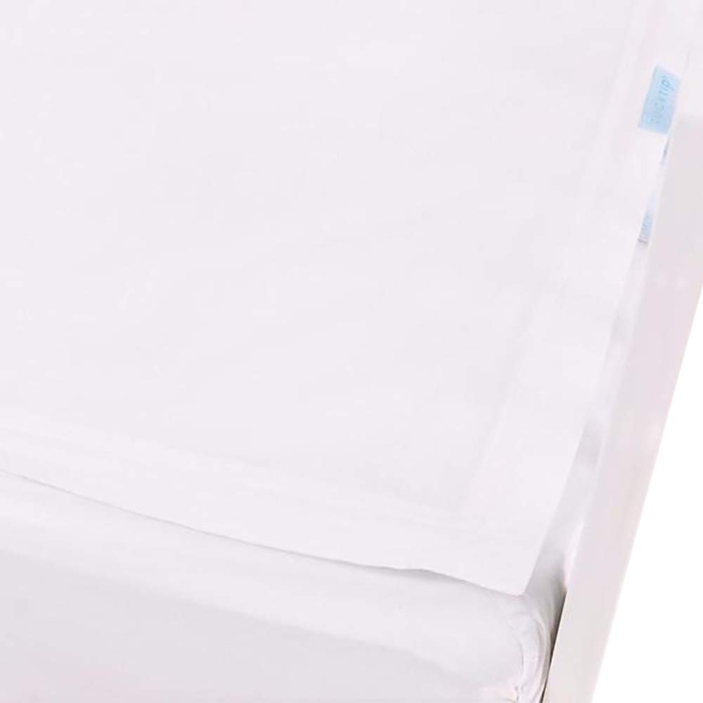 QuickZip Crib Sheet Set - Faster, Safer, Easier Baby Crib Sheets - Includes 1 Wraparound Base & 1 Zip-On Crib Sheet - White 100% Cotton - Fits All Standard Crib Mattresses by QuickZip