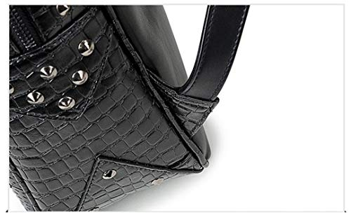 3D Close filles adapté mode cool PU sac Sac de adolescentes bandoulière Silver Mouth cuir de sac les portable en dos loup tête ordinateur 1qwCxtgSA