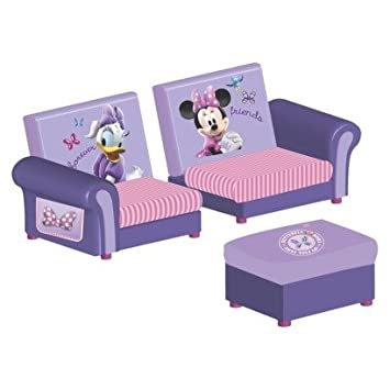 Incredible Amazon Com 3 Piece Upholstered Set Minnie Mouse 2 Piece Pdpeps Interior Chair Design Pdpepsorg