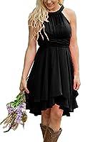 XingMeng Short A Line Halter Chiffon Prom Homecoming Bridesmaid Dresses
