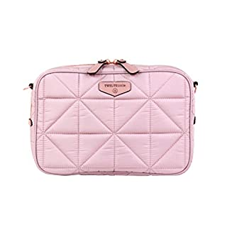TWELVElittle Diaper Clutch 2.0 - Fashion Diaper Bag with Changing Pad. Machine Washable (Blush Pink)