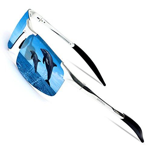 1bbbf54d3b3 SERWALL Mens Sports Polarized Sunglasses for Men UV Protection Al-Mg Metal  Frame Ultra Light
