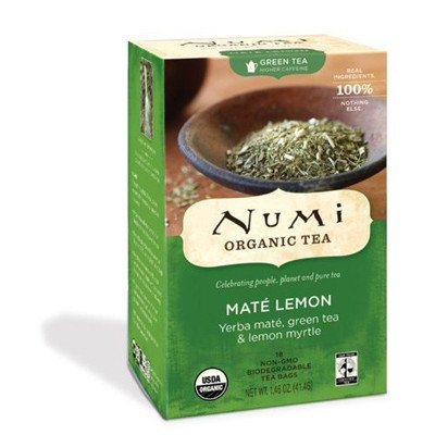 Numi Tea Organic Mate Lemon Green Tea (3x18 bag) (Mate Green Numi Rainforest)