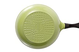 Wok (Chef\'s Pan) with Glass Lid - 12-inch Ceramic Nonstick in Olive Green by Neoflam