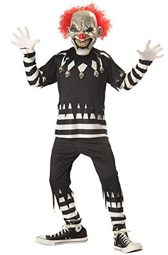 Creepy Clown Boy's Costume, Medium, One Color