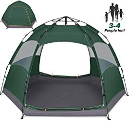 Amagoing 3-4 Person Tents for Camping Instant Setup Tent Double Layer Waterproof for 4 Seasons