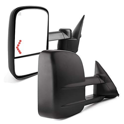 YITAMOTOR for Chevy Towing Mirrors, Chevrolet Silverado Side Mirror, GMC Sierra Tow Mirrors, Pair 2003-2007 Power Heated with Arrow Signal Light -