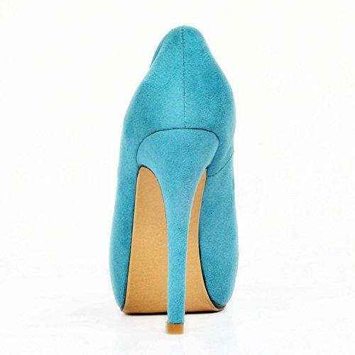 talon Handmade chaussures haut papillon 130mm talon pompes Kolnoo blue Femmes ouvert HOwHX
