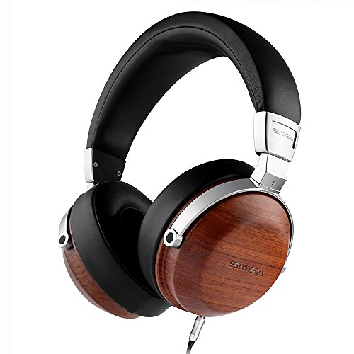 SIVGA SV003 Studio Headphones, Wooden Closed-Back Headset with 50mm Driver and Case, - Brown Is Wood Why