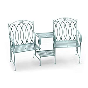 Charles Bentley Wrought Iron Loveseat for Two