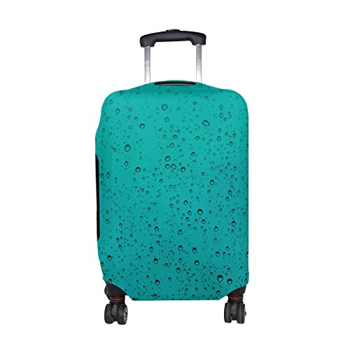 COOSUN Les gouttes d'eau Imprimer Voyage bagages Housses de protection Lavable Spandex Bagages Valise couverture - Convient 23-32 pouces XL 31-32 po Multicolore