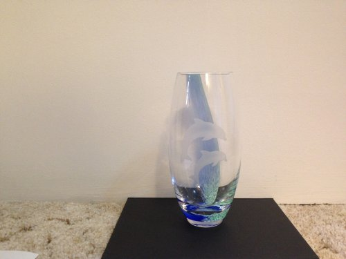 Lenox Dolphin - Lenox Glass Vase with Dolphins