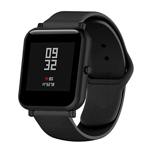 MLQSS 18mm 20mm 22mm Width Soft Silicone Smart Watch Bands,Quick Release Straps Compatible with Samsung Gear Sport,Adjustable Wrist Band for Ticwatch/Pebble/Huawei/Amazfit Pace Standard SmartWatch (Band Silicon Watch Pebble)