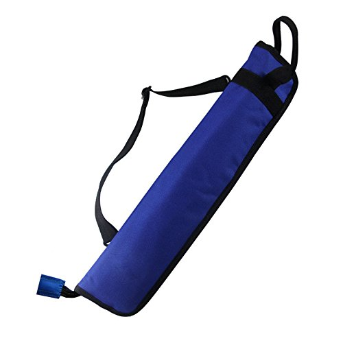 Drumstick Case - EaseIcon Weather Resistant Fabric Drumstick Case Cover Drum Stick Bag with Shoulder Strap - Blue