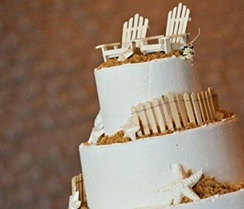 Price comparison product image Wedding Cake Topper Beach Chairs & Fences White or Plain (2 White Fences)