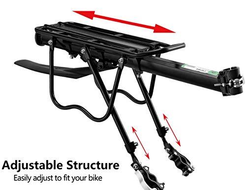 ROCKBROS Portapacchi Bici Alluminio Universle Regolabile per Bici MTB Portapacchi Posteriore Mountain Bike capacità… 6 spesavip