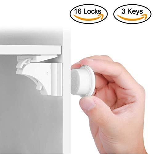 Baby Safety Magnetic Cabinet Lock Set HURRISE Child Safety Locks Kids Toddler...