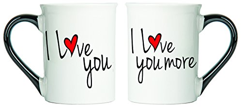 Unique I Love You Gifts - I Love You, I Love You More Mugs Set Of Two Coffee Cups, Spouse Mugs, Ceramic Mugs, Custom Gifts By Tumbleweed