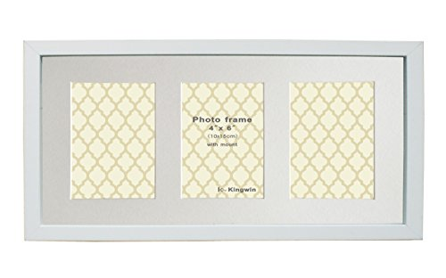 Kingwin Picture Frame Wf1072 (white, 4x6x3aperture) (Table 1 Wide Foot)