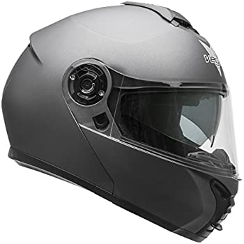 Vega Helmets VR1 Modular Motorcycle Helmet with Sunshield - DOT Certified Half to Full Face Flip Up Motorbike Helmet for Cruisers Scooter Touring Moped, ...