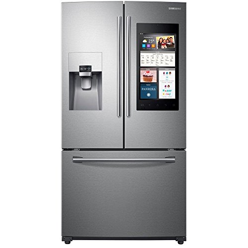 (Samsung RF265BEAESR 24 cu. ft. Capacity 3 -Door French Door Refrigerator with Family Hub0153 - Stainless Steel RF265BEAESR/AA)
