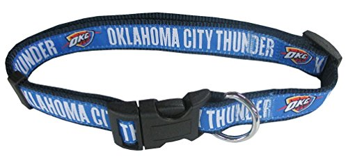 NBA Oklahoma City Thunder Dog Collar, Size Small. Best Pet Collar for All Sports Fans
