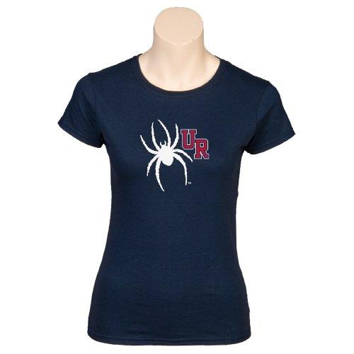 Richmond Next Level Ladies SoftStyle Junior Fitted Navy Tee 'UR Spider'
