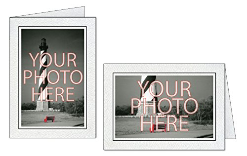 Photographer's Edge, Photo Insert Card, Gray with Black Border, Set of 10 for 4x6 Photos
