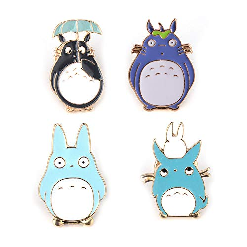Animal Lover Pin Set - Enamel Pin Set Totoro Pin Vintage Anime Animal Pack Cute Cartoon Brooch Lapel Badge for Women Girls Children Kawaii, Clothing Bag Decor for Animal Lovers