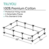 TILLYOU Cotton Collection Baby Safe Crib Bumper