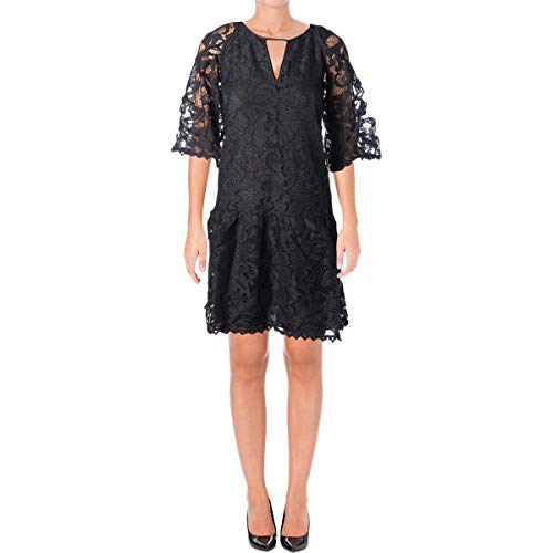 Juicy Couture Black Label Womens Hibiscus Lace Party Dress Navy S