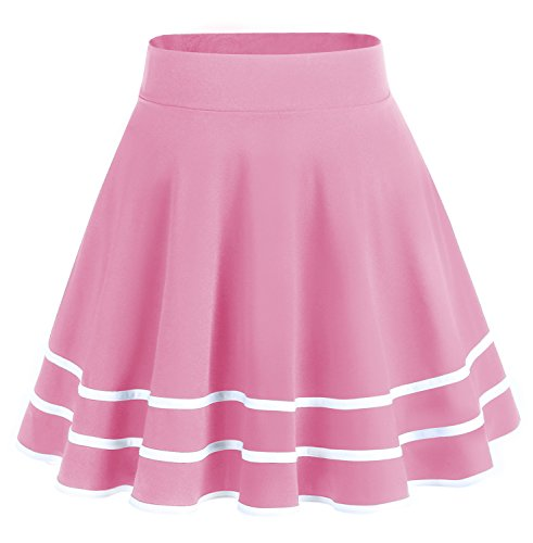 Courte Patineuse en Bridesmay white Coral Mini Jupe Polyester Plisse qSxf7