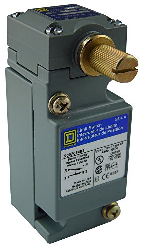 Square D by Schneider Electric 9007C54B2 Heavy Duty Nema Limit Switch, Full Size, 1 Pole, Std. Rotary Head, Cw + CCW Operation ()