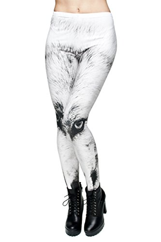 [Ollie Arnes Women's Unique One of a Kind HALLOWEEN Costume Leggings and Tights WWOLF ONE SIZE] (One Of A Kind Costumes)
