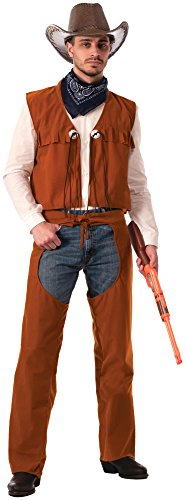 Forum Novelties Men's Western Cowboy Costume, Brown, Standard (Country And Western Costumes)