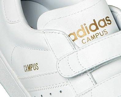 adidas Campus White \u0026 Gold Velcro