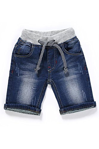 Little-Guest Baby Boys' Clothes Blue Knee-Length Jeans Shorts B210 (12-18 Months, Navy - Navy Old Shorts Blue