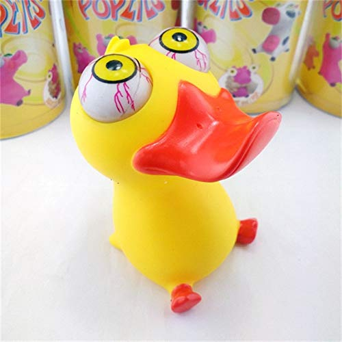 XuBa 1Pcs Mini Animal Figure Doll Bulging Eyes Pop Out Eyes Stress Relief Balls Squeezable Toy Children Adult Anti-Stress Toys Duck
