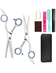 Hairdressing Scissors Kits Stainless Steel Hair Cutting Shears Set Thinning/Texturizing Scissors Bang Hair Scissor Professional Barber/Salon/Home Shear Kit For Men Women Pet