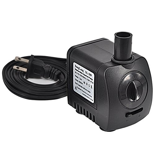 Submersible Water Pump Aquarium Fountain Pump for Fish Tank Pond Yard Fountain Water Gardens with 2 Nozzles, 9.5W 210GPH(600L/H) (60 Hz Tile Saw)