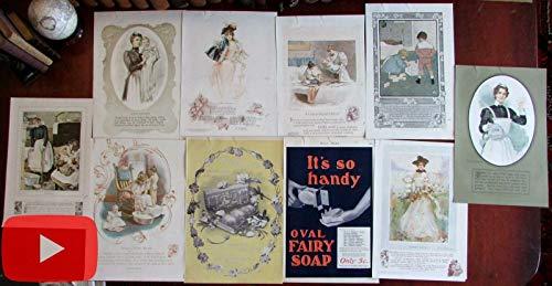 Ivory Soap Procter & Gamble antique color ads 1899-1901 lot x 10 children women